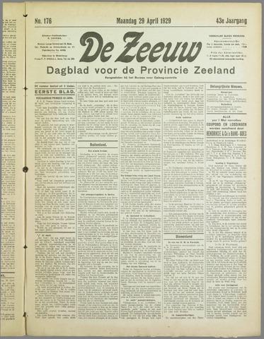 De Zeeuw. Christelijk-historisch nieuwsblad voor Zeeland 1929-04-29