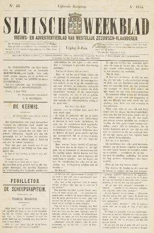 Sluisch Weekblad. Nieuws- en advertentieblad voor Westelijk Zeeuwsch-Vlaanderen 1874-06-05