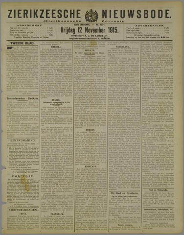 Zierikzeesche Nieuwsbode 1915-11-12