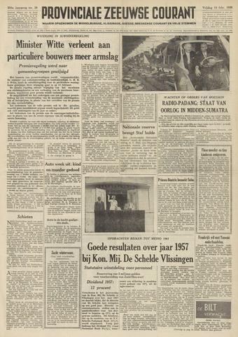 Provinciale Zeeuwse Courant 1958-02-14