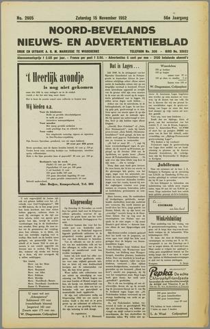 Noord-Bevelands Nieuws- en advertentieblad 1952-11-15