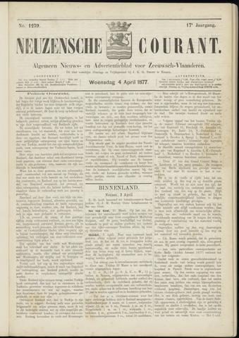 Ter Neuzensche Courant. Algemeen Nieuws- en Advertentieblad voor Zeeuwsch-Vlaanderen / Neuzensche Courant ... (idem) / (Algemeen) nieuws en advertentieblad voor Zeeuwsch-Vlaanderen 1877-04-04