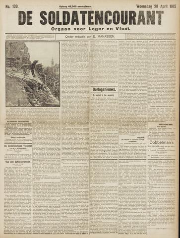 De Soldatencourant. Orgaan voor Leger en Vloot 1915-04-28