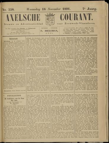 Axelsche Courant 1891-11-18