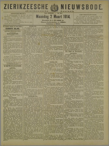 Zierikzeesche Nieuwsbode 1914-03-02
