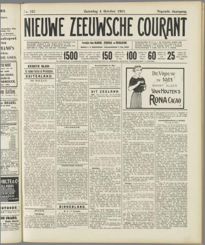 Nieuwe Zeeuwsche Courant 1913-10-04