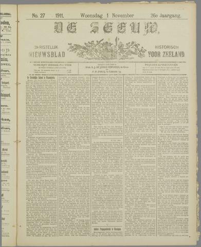 De Zeeuw. Christelijk-historisch nieuwsblad voor Zeeland 1911-11-01
