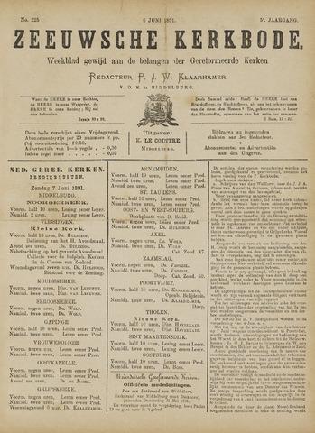 Zeeuwsche kerkbode, weekblad gewijd aan de belangen der gereformeerde kerken/ Zeeuwsch kerkblad 1891-06-06