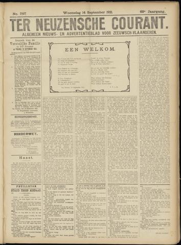 Ter Neuzensche Courant. Algemeen Nieuws- en Advertentieblad voor Zeeuwsch-Vlaanderen / Neuzensche Courant ... (idem) / (Algemeen) nieuws en advertentieblad voor Zeeuwsch-Vlaanderen 1921-09-14