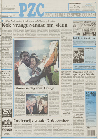 Provinciale Zeeuwse Courant 1995-11-16
