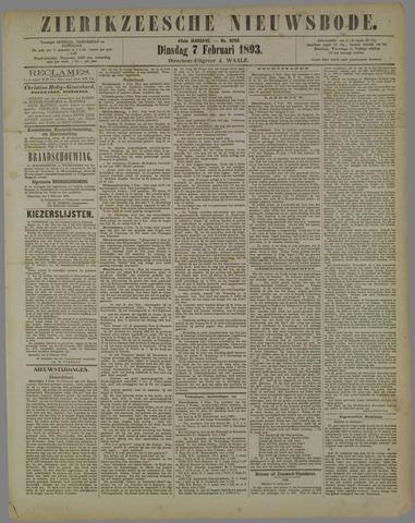 Zierikzeesche Nieuwsbode 1893-02-07