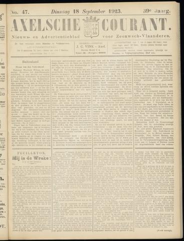 Axelsche Courant 1923-09-18