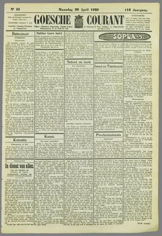 Goessche Courant 1929-04-29