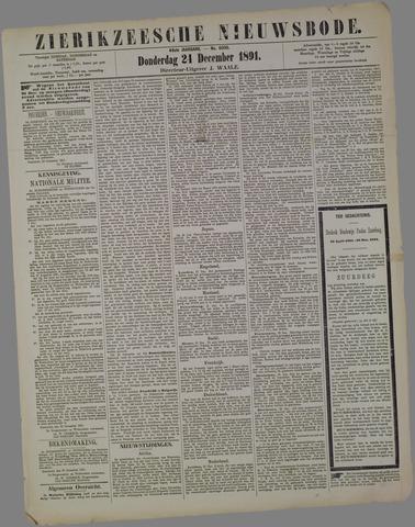 Zierikzeesche Nieuwsbode 1891-12-24