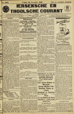 Ierseksche en Thoolsche Courant 1926-11-26
