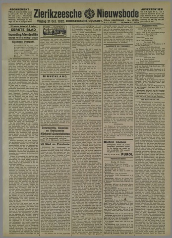 Zierikzeesche Nieuwsbode 1932-10-21