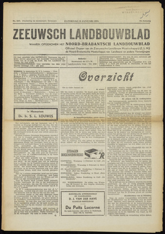 Zeeuwsch landbouwblad ... ZLM land- en tuinbouwblad 1953-01-31