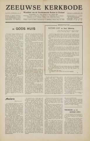 Zeeuwsche kerkbode, weekblad gewijd aan de belangen der gereformeerde kerken/ Zeeuwsch kerkblad 1956-02-10