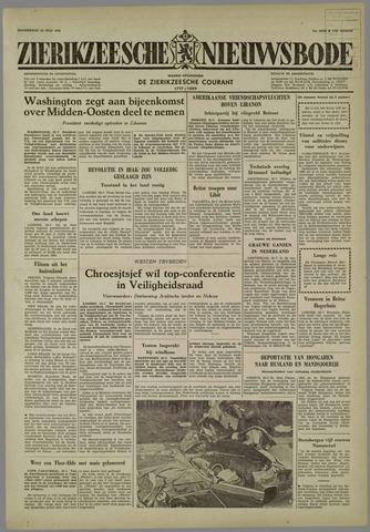 Zierikzeesche Nieuwsbode 1958-07-24