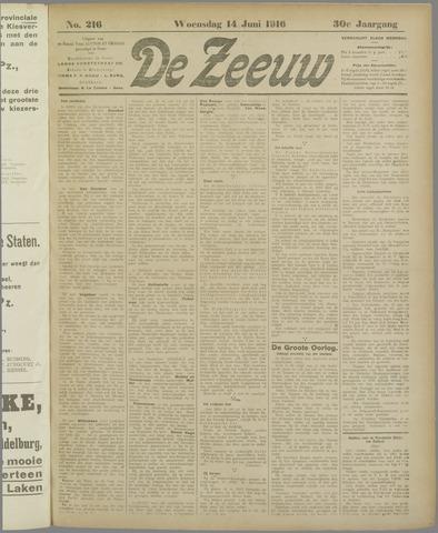De Zeeuw. Christelijk-historisch nieuwsblad voor Zeeland 1916-06-14