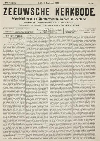 Zeeuwsche kerkbode, weekblad gewijd aan de belangen der gereformeerde kerken/ Zeeuwsch kerkblad 1923-09-07