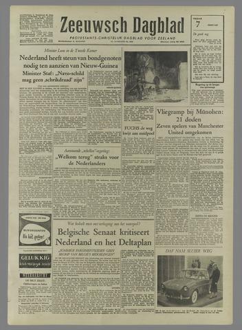 Zeeuwsch Dagblad 1958-02-07