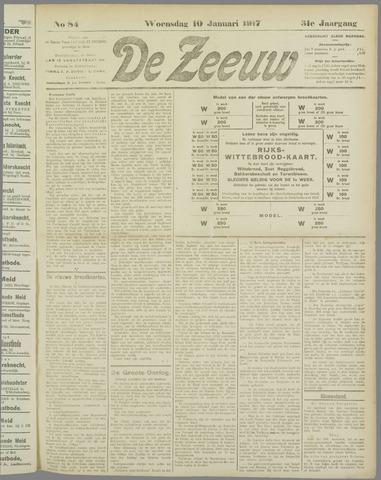De Zeeuw. Christelijk-historisch nieuwsblad voor Zeeland 1917-01-10