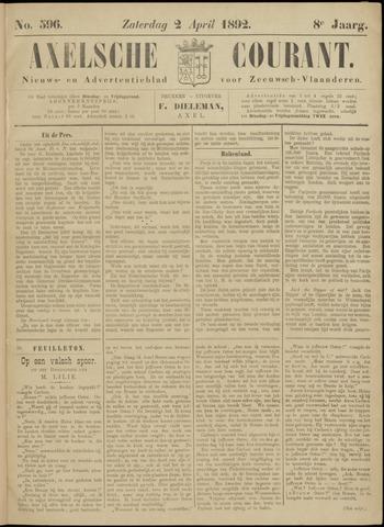 Axelsche Courant 1892-04-02