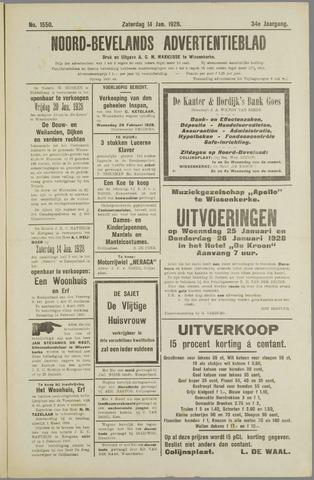 Noord-Bevelands Nieuws- en advertentieblad 1928-01-14