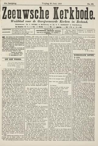 Zeeuwsche kerkbode, weekblad gewijd aan de belangen der gereformeerde kerken/ Zeeuwsch kerkblad 1916-06-30