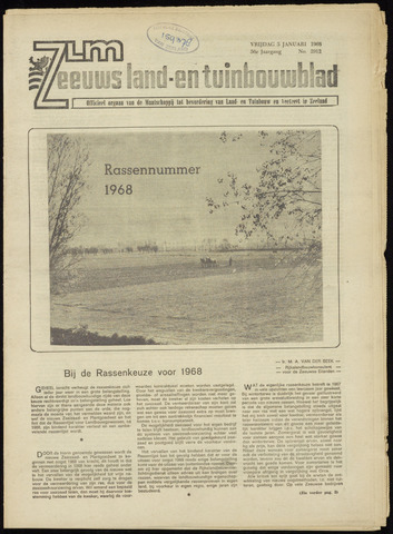 Zeeuwsch landbouwblad ... ZLM land- en tuinbouwblad 1968