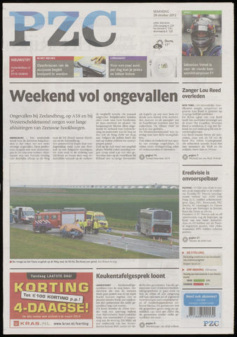 Provinciale Zeeuwse Courant 2013-10-28