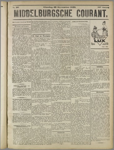 Middelburgsche Courant 1922-11-28