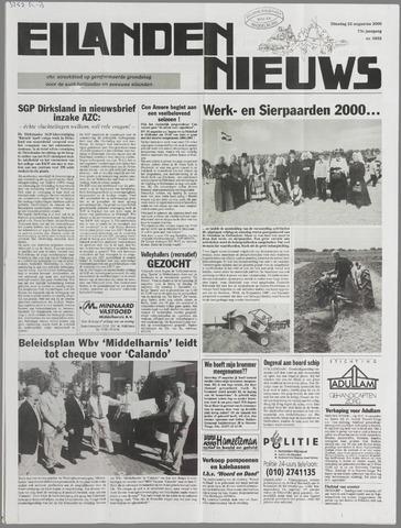Eilanden-nieuws. Christelijk streekblad op gereformeerde grondslag 2000-08-22