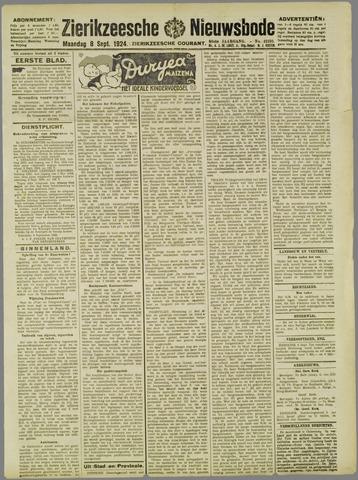 Zierikzeesche Nieuwsbode 1924-09-08