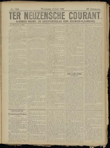 Ter Neuzensche Courant. Algemeen Nieuws- en Advertentieblad voor Zeeuwsch-Vlaanderen / Neuzensche Courant ... (idem) / (Algemeen) nieuws en advertentieblad voor Zeeuwsch-Vlaanderen 1923-06-13