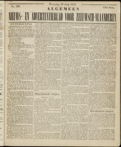 Ter Neuzensche Courant. Algemeen Nieuws- en Advertentieblad voor Zeeuwsch-Vlaanderen / Neuzensche Courant ... (idem) / (Algemeen) nieuws en advertentieblad voor Zeeuwsch-Vlaanderen 1872-06-19