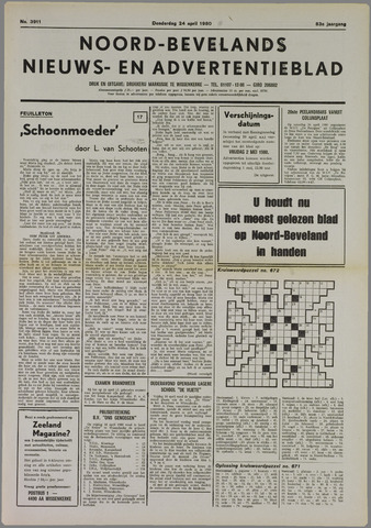 Noord-Bevelands Nieuws- en advertentieblad 1980-04-24