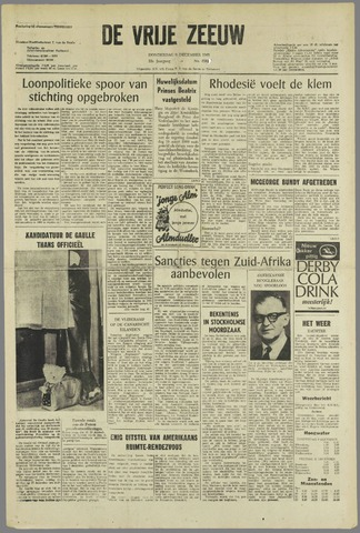 de Vrije Zeeuw 1965-12-09