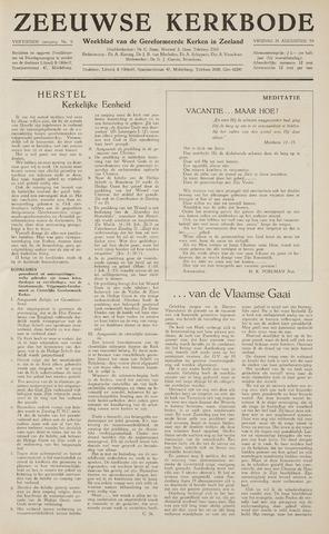 Zeeuwsche kerkbode, weekblad gewijd aan de belangen der gereformeerde kerken/ Zeeuwsch kerkblad 1959-08-28