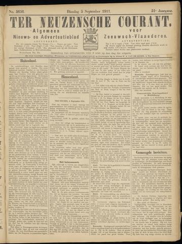 Ter Neuzensche Courant. Algemeen Nieuws- en Advertentieblad voor Zeeuwsch-Vlaanderen / Neuzensche Courant ... (idem) / (Algemeen) nieuws en advertentieblad voor Zeeuwsch-Vlaanderen 1911-09-05