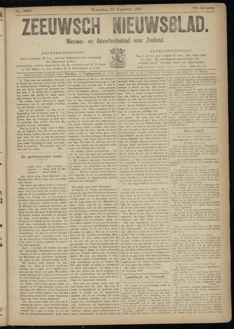 Ter Neuzensch Volksblad. Vrijzinnig nieuws- en advertentieblad voor Zeeuwsch- Vlaanderen / Zeeuwsch Nieuwsblad. Nieuws- en advertentieblad voor Zeeland 1918-08-21