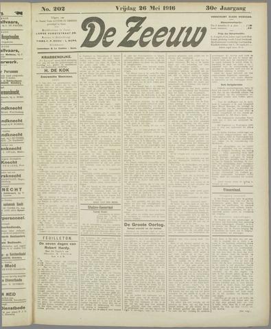 De Zeeuw. Christelijk-historisch nieuwsblad voor Zeeland 1916-05-26
