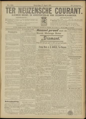 Ter Neuzensche Courant. Algemeen Nieuws- en Advertentieblad voor Zeeuwsch-Vlaanderen / Neuzensche Courant ... (idem) / (Algemeen) nieuws en advertentieblad voor Zeeuwsch-Vlaanderen 1915-04-17