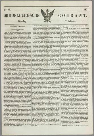 Middelburgsche Courant 1871-02-07