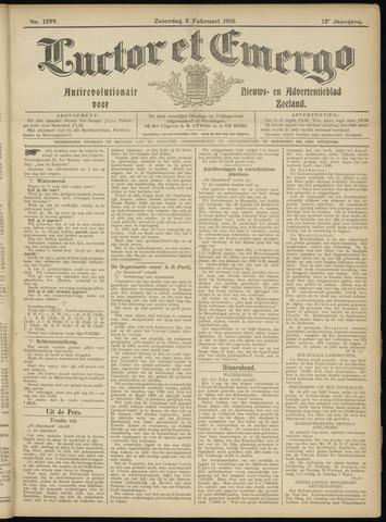 Luctor et Emergo. Antirevolutionair nieuws- en advertentieblad voor Zeeland / Zeeuwsch-Vlaanderen. Orgaan ter verspreiding van de christelijke beginselen in Zeeuwsch-Vlaanderen 1916-02-05