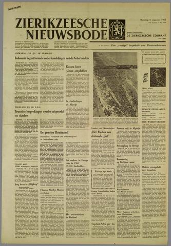 Zierikzeesche Nieuwsbode 1962-08-06