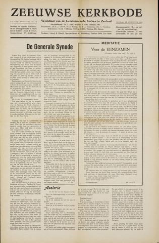 Zeeuwsche kerkbode, weekblad gewijd aan de belangen der gereformeerde kerken/ Zeeuwsch kerkblad 1955-08-26