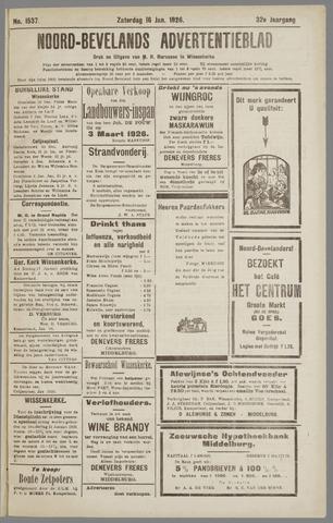 Noord-Bevelands Nieuws- en advertentieblad 1926-01-16
