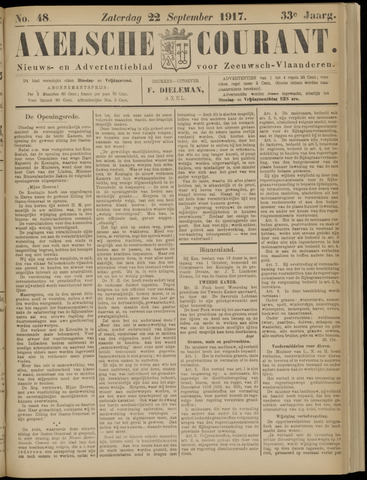 Axelsche Courant 1917-09-22